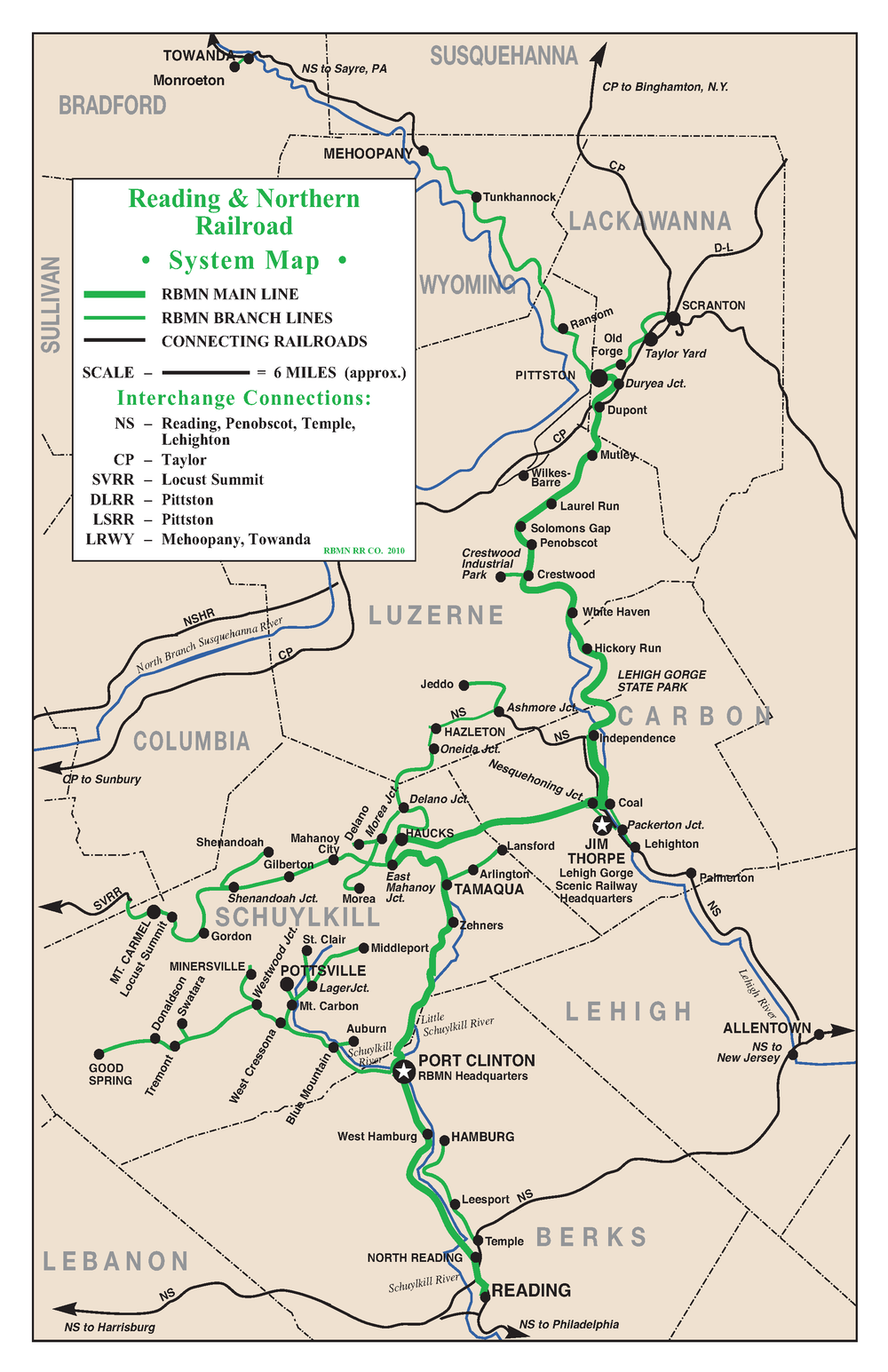Reading Blue Mountain Northern RBMN Todays Railroading In - Norfolk southern system map